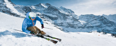 Skifahren in der Jungfrauregion, Schweiz, Berner Oberland