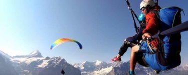 Paragliding von First nach Bodmi, Grindelwald mit Jungfrau Paragliding