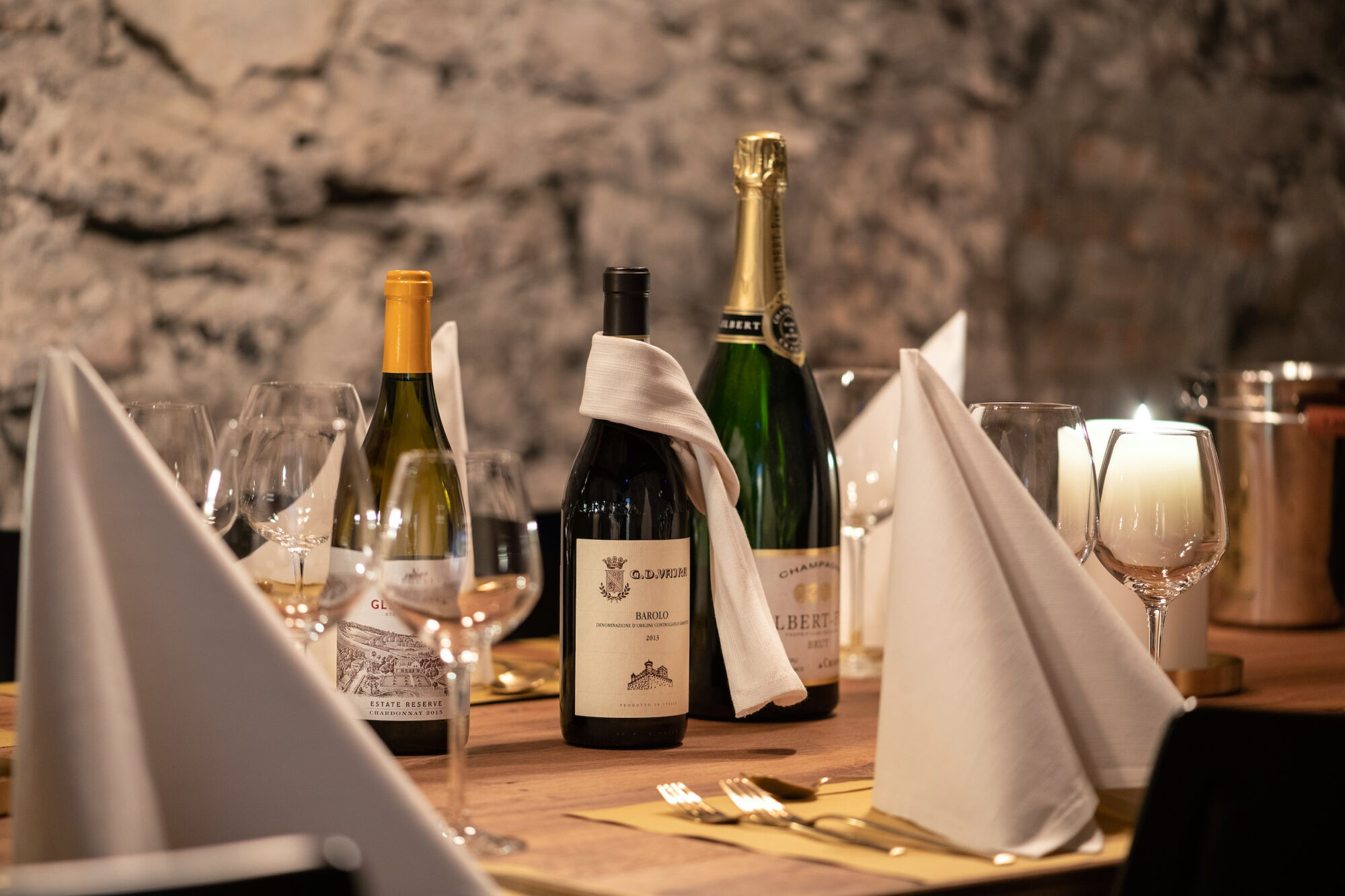 Wine cellar at Boutique Hotel and Restaurant Glacier Grindelwald